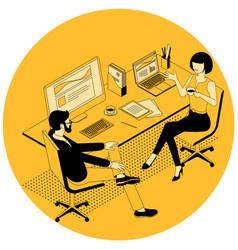 isometric business communication vector image