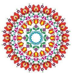 Kalocsai floral embroidery - Hungarian round folk vector