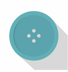 light blue sewing button icon flat style vector image