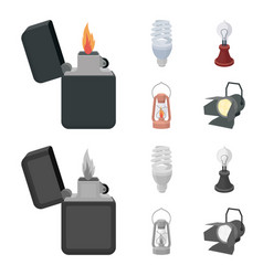 lighter economical light bulb edison lamp vector image