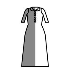 Line long dress cloth style vector