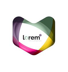 logo abstract geometric icon vector image