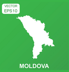 Moldova map icon business concept moldova vector