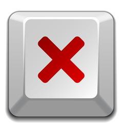 Negative checkmark key vector
