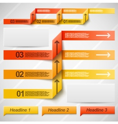 Orange elements of infographics vector image