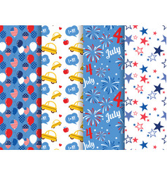 pattern set national colors united vector image