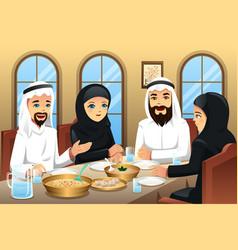 People celebrating eid-al-fitr vector