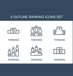 Ranking icons vector