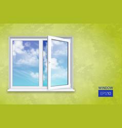 Realistic open plastic window vector