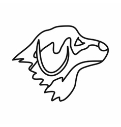 Retriever dog icon outline style vector