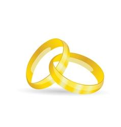 Rings golden jewel vector