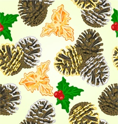 Seamless texture pine cones vector