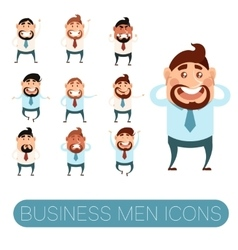 Set of business men5 vector image