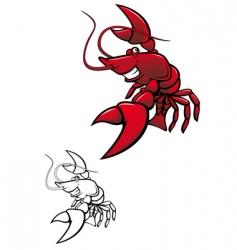 smiling crayfish vector image
