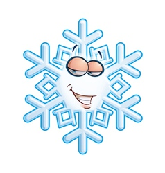 SnowFlake Emoticon Hey Sweetie vector image vector image