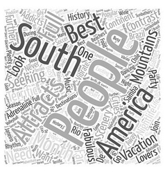 South america Word Cloud Concept vector