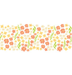 sping flowers seamless repeat border vector image