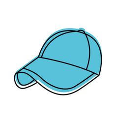 Sport cap accessory fashion trendy icon vector
