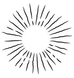 Starburst sunburst hand drawn design element vector