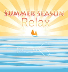 Summer background to the sea vector