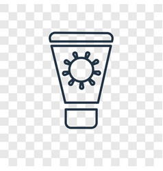 sun cream concept linear icon isolated on vector image