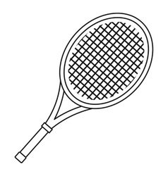 Tennis racket icon outline style vector