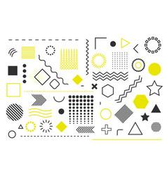trendy geometric shape template background vector image