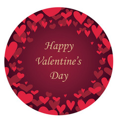 valentines day abstract round background vector image