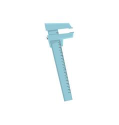 vernier caliper measuring tool cartoon vector image