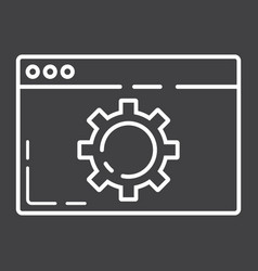 Web optimization line icon seo and development vector