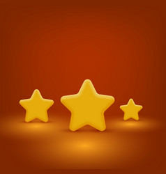 yellow stars set vector image
