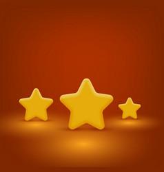 Yellow stars set vector