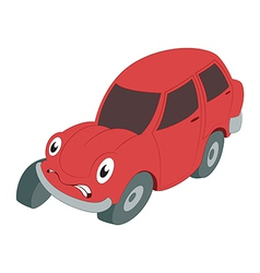 Braking car vector image vector image