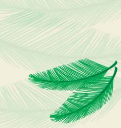 plam leaf background vector image vector image