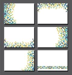 Set of business cards Pixel art vector image vector image