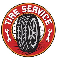 tire service label vector image