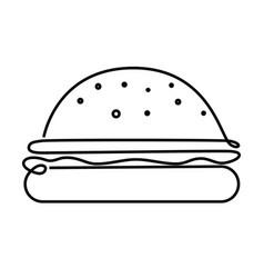 big burger concept vector image vector image