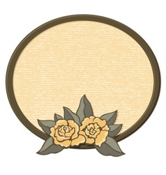 oval frame with roses vector image vector image