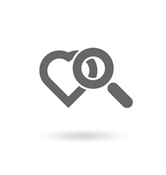 searching for love icon vector image