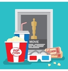 Set of movie design elements flat style vector image vector image