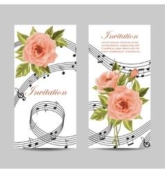 Set of wedding invitation cards design vector image vector image