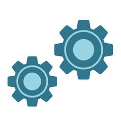 settings flat icon cogwheels and website vector image