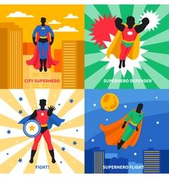 Superhero 2x2 Design Concept vector image