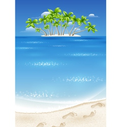 An island in the tropics vector image
