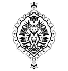 black artistic ottoman seamless pattern series vector image