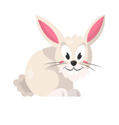 cute pink rabbit isolated on white vector image