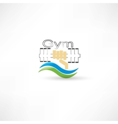 dumbbell health vector image vector image