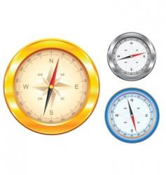 golden compass vector image vector image
