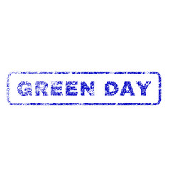 Green day rubber stamp vector