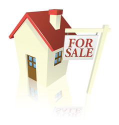 house for sale graphic vector image vector image